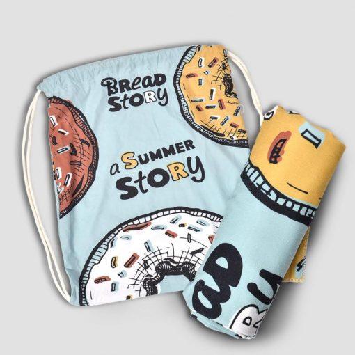 מגבת חוף מיקרופייבר + תיק